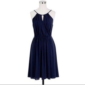 J.Crew Laila Dress Liquid Jersey in Navy NWT